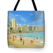 Aloha From Hawaii - Waikiki Beach Honolulu Tote Bag