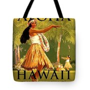 Aloha Hawaii, Hula Girl Dance Tote Bag