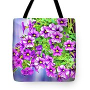 Aloha Purple Sky Calibrachoa Abstract II Tote Bag