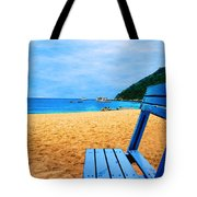 Alone And Blue Tote Bag