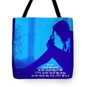 Alone In Blue Tote Bag