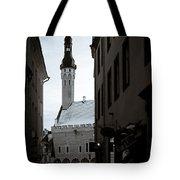 Alone In Tallinn Tote Bag by Dave Bowman