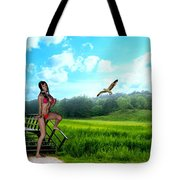 Alone In The Field Tote Bag
