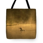 Alone In The Morning Fog Tote Bag