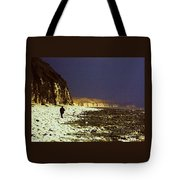 Alone On The Beach In Yorkshire Tote Bag