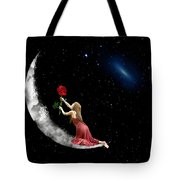 Alone On The Clouds Tote Bag