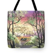 Alone On The Water Tote Bag