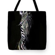 Zebra Fade Into Light Tote Bag