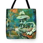 Alone With The Blues Tote Bag