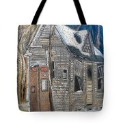 Along A Cold Country Road Tote Bag