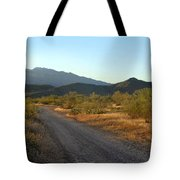 Along A Country Road Tote Bag