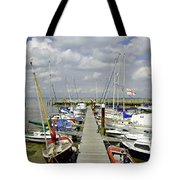 Along C Pontoon In Ryde Harbour Tote Bag