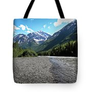Along Eagle River- Eagle River, Alaska Tote Bag