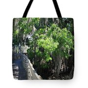 Along Florida Boardwalk Tote Bag