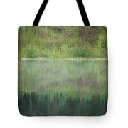 Along The Edge Of The Pond Tote Bag