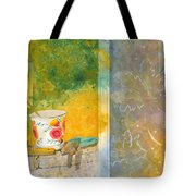 Along The Garden Wall Tote Bag