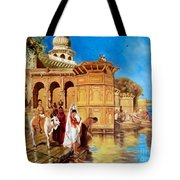 Along The Ghats, Mathura After Edwin Lord Weeks Tote Bag