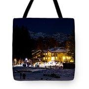 Along The Lake Night Tote Bag