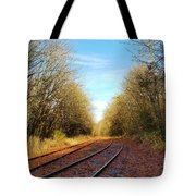 Along The Old Railroad  Tote Bag