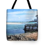 Along The Peaceful Shores  Tote Bag
