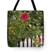 Along The Picket Fence Tote Bag