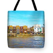 Along The River Thames Tote Bag