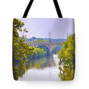 Along The Schuylkill River In Manayunk Tote Bag by Bill Cannon