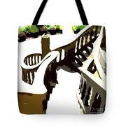 Along The Spiral Stairway Tote Bag