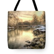 Along The Thames River Signed Tote Bag by Garvin Hunter