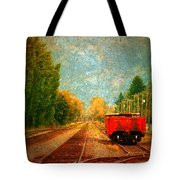 Along The Tracks Tote Bag