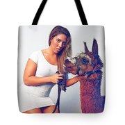 Alpaca Mr. Tex And Breanna Tote Bag