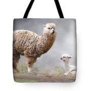 Alpacas Mum And Baby Tote Bag