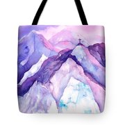 Alpenglow In The Alps Tote Bag