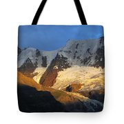 Alpenglow On The Swiss Alps Near Murren Tote Bag