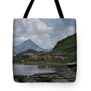 Alps' Horses Tote Bag