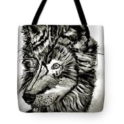 Alpha Male - The Wolf Tote Bag
