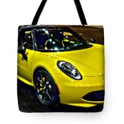 Alpha Romeo 4c Spider Tote Bag
