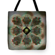 Alpha Waves - View With Red-cyan 3d Glasses Tote Bag