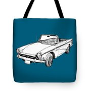 Alpine 5 Sports Car Illustration Tote Bag