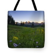 Alpine Dawn Tote Bag