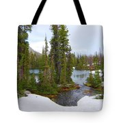 Alpine Lake Area Tote Bag