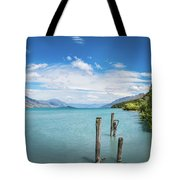 Alpine Scenery Panorama At Kinloch, New Zealand Tote Bag