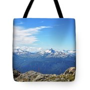 Alpine View In Canada Tote Bag