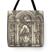 Altar With The Virgin And Child And Saints Christopher, Barbara, George And Catherine Tote Bag