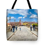 Alte Mainbrucke In The Historic City Of Wurzburg Tote Bag