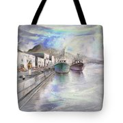 Altea Harbour On The Costa Blanca 01 Tote Bag