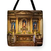 Alter Of The Mission San Buenaventura Tote Bag