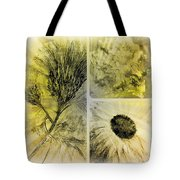 Altered Florals Tote Bag