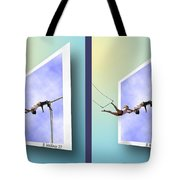 Alternate Universes - Gently Cross Your Eyes And Focus On The Middle Image Tote Bag
