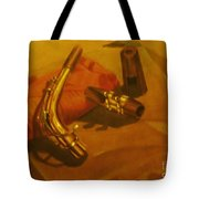 Alto Saxophone Neck And Mouthpiece Tote Bag